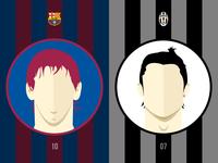 Messi | Ronaldo Costers