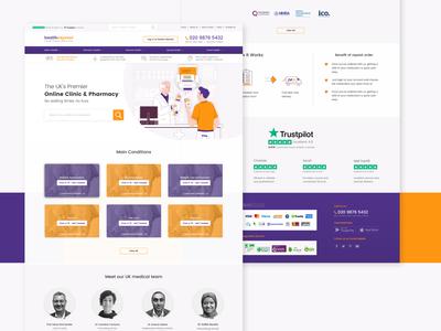 Online Clinic & Pharmacy Website Design