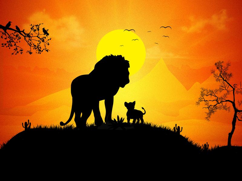 The Lionking By Yogesh Madharam On Dribbble