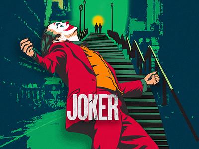 JOKER ( We are all clowns ) character design retro adobe illustrator comic art vector design illustration dccomics batman monster joker