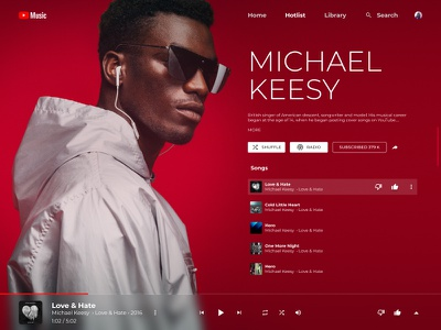 Youtube Music Alternative design ui figma youtube