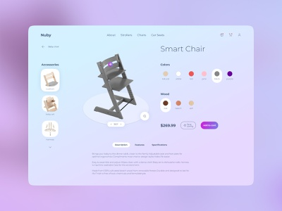 Smart Chair web mobile app ux design ui figma chair design