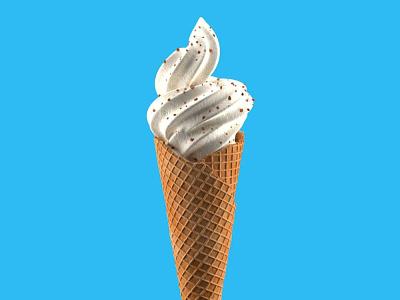Ice-cream 3d cinema 4d