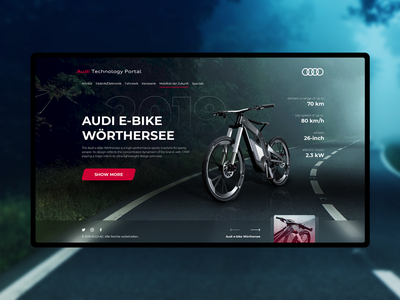 Audi E Bike e-bike bike audi website web design ui