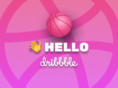 Hello Dribbble figma design ui debut hello hellodribbble firstshot hello dribbble
