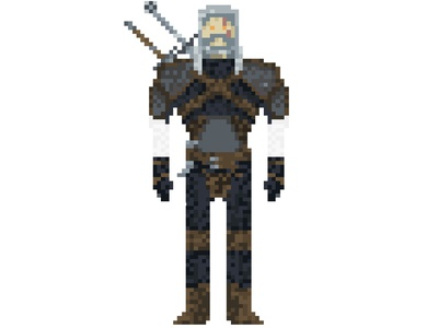 Toss a Coin flat character 8bit art 8bit 32-bit photoshop illustration 2d pixel art witcher pixel