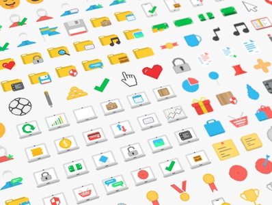 32-bit Pixel icon pack FREE DOWNLOAD animation 2d ux vector ui photoshop minimal flat design 32px icons pack icon set icon pixel art