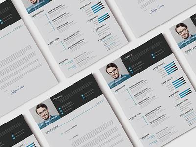 Modern Resume CV (freebie) psd freebie cv cv resume template resume ui design