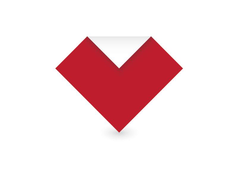 Paper Heart Logo paper heart love logo