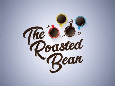 The Roasted Bean cafe coffee dailylogochallenge