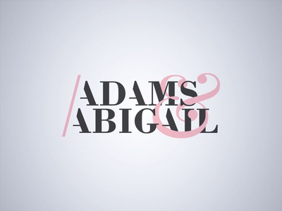 Adams & Abigail logo fashion dailylogochallenge
