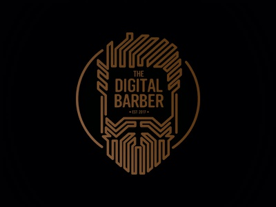 Digital Barber Logo digital beard logo barber dailylogochallenge