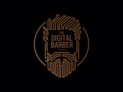 Digital Barber Logo digital beard logo barber dailylogochallenge