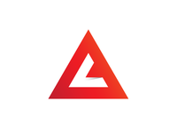 AL Monogram logo gradient red shadow monogram identity branding brand logo