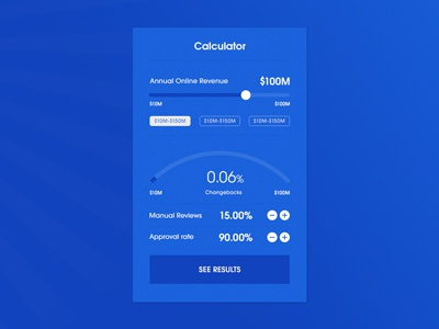 ROI Calculator digital type calculator ui ux design app web clean minimal