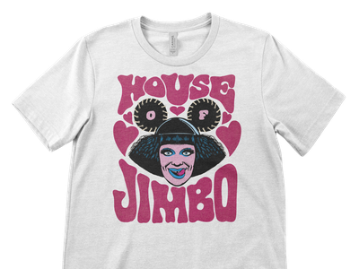 Tee designs for Jimbo from Canada's Drag Race typography illustration design tees