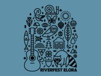 Riverfest Elora Tee Design