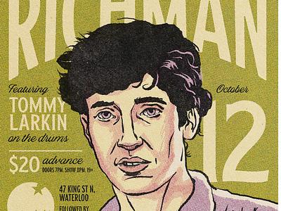 Jonathan Richman typography procreate gigposter
