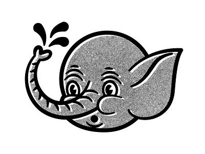 L'il buddie vector branding elephant