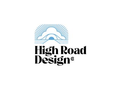 High road brand exploration typography brand logo