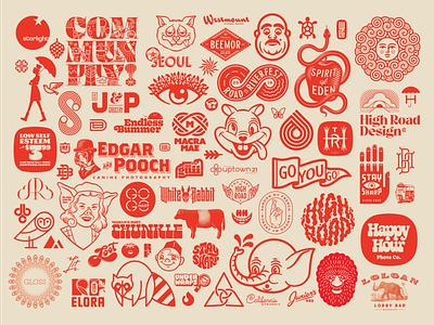 Vector Asset roundup icon wordmark logos branding vector