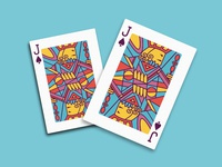 Jack of Spades Playing Cards fresh color bright shapes geometry colour spades jack cards playing card