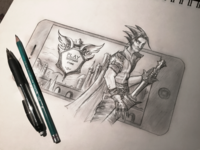iPhone RPG Mobile Game (Sketch)