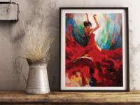 Spanish Dancer - acrylic painting