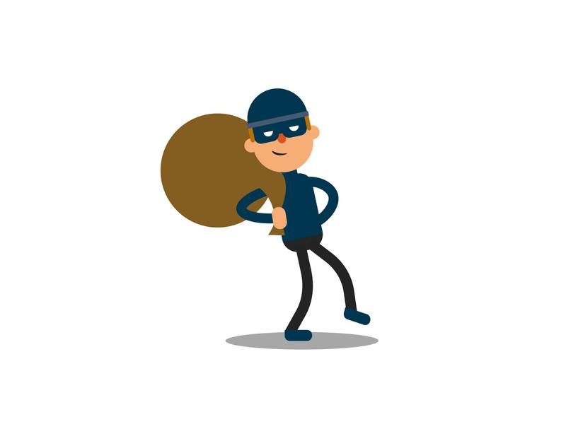 Thief Illustration design ui art stealth vector rob steal cute illustration