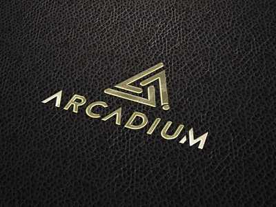 Arcadium Brand Identity production arrow tech vr branding and identity media triangle branding logo art