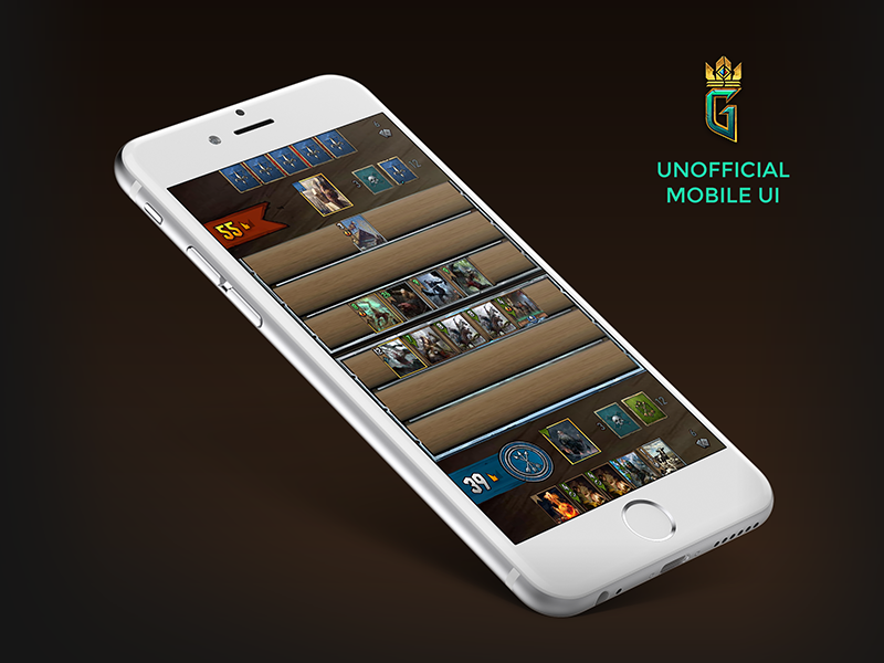 Gwent Unofficial Mobile UI witcher smartphone mobile game card gwent