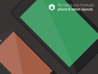 Flat Nexus App Mockups