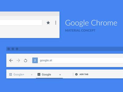 Google Chrome Material Concept