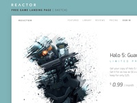 Reactor - Gaming Landing Page