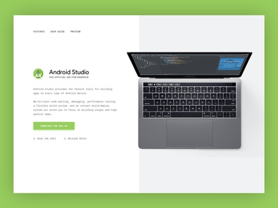 Daily UI 003 • Above The Fold ui daily ui android android studio hero header web above the fold