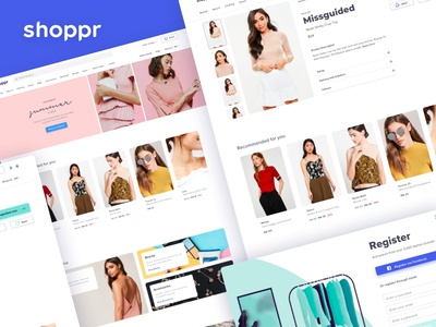 Shoppr Overhaul ecommence app web design web identity typography 2d design branding modern fashion website