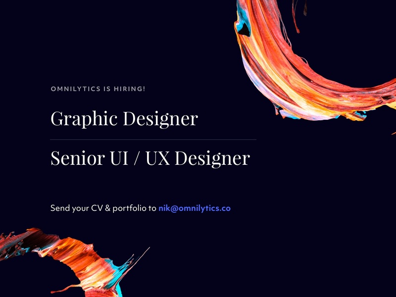We're hiring! graphic  design ui ux designer job listing job designers hiring designers hiring