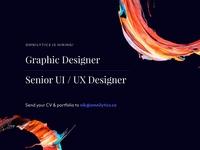 We're hiring! graphic  design ui ux designer job listing job designers hiring designers hiring