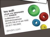 Dimdim Business Card Front