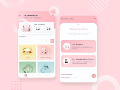 Pastel Color App - Parenting App 👫 popular shot figma baby app parenting app pastel color branding design uiux ui design graphic design app icon ux vector branding ui logo design illustration