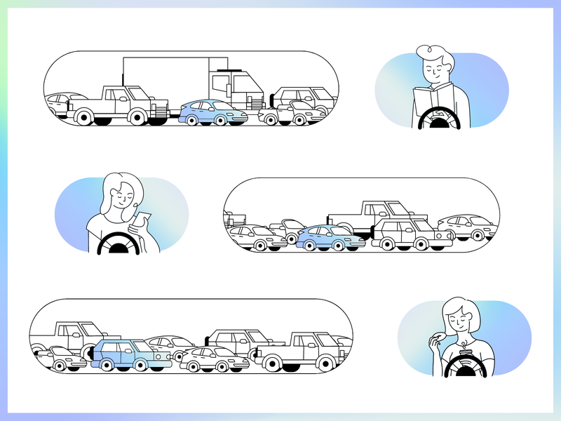 Self-driving Car illustration