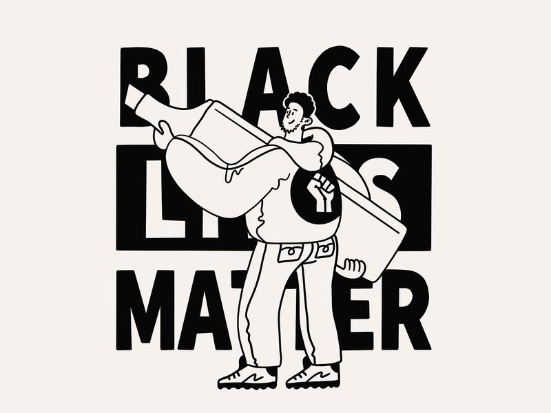 Black Lives Matter • Highlight character doodle blm black lives matter black design illustration