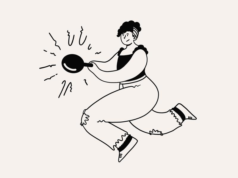 Smash the Patriarchy bang jump woman girl character design abolish smash activism feminism patriarchy character design illustration