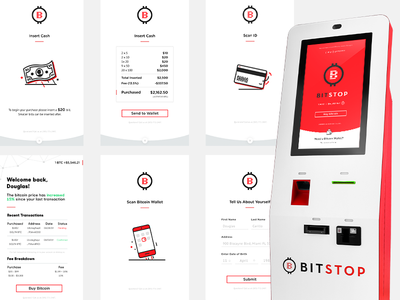 Bitstop Bitcoin ATM Screens buy checkout crypto bitcoin wallet money screens bitcoin