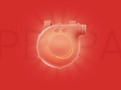 Who is Peppa Pig icon illustration