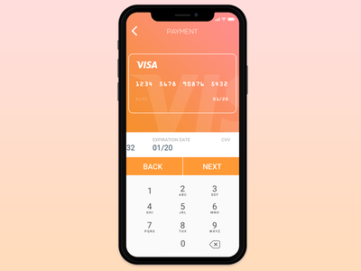 Credit Card Payment UI app gradient credit card simple mobile ux ui iphone x payment