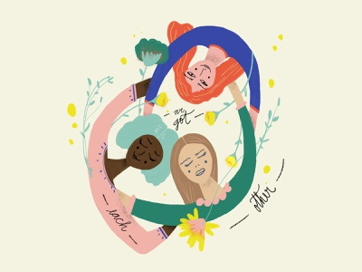 — We got each other — photoshop support feminism friends women women illustration women in illustration illustration