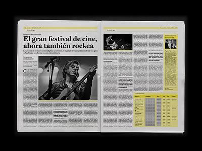 MIRADAS/ Newspaper press grid design editorial fadu cosgaya type tipografia bafici newspaper periodico diario