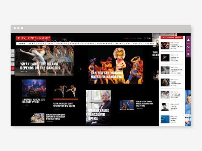 Online web newspaper ui ux editorial design web type newspaper news graphic globeandmail fadu design