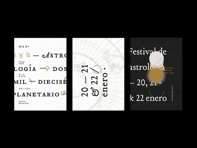 Astrology fest 01 fest design branding postcard gabriele horoscope planets type festival astrology